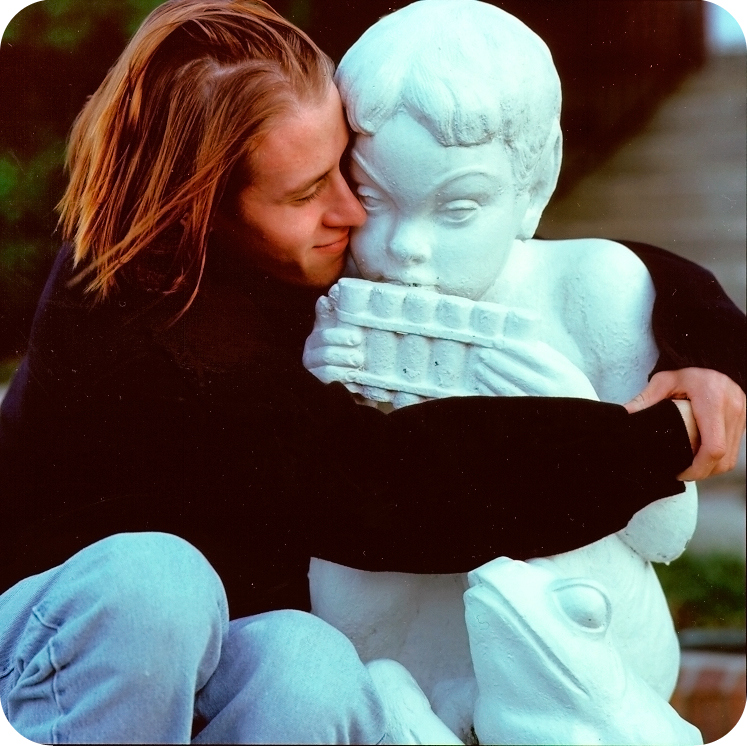 Demian with Statue