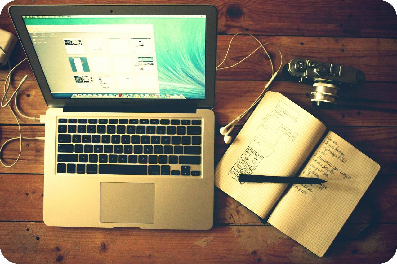 Laptop Open Notebook